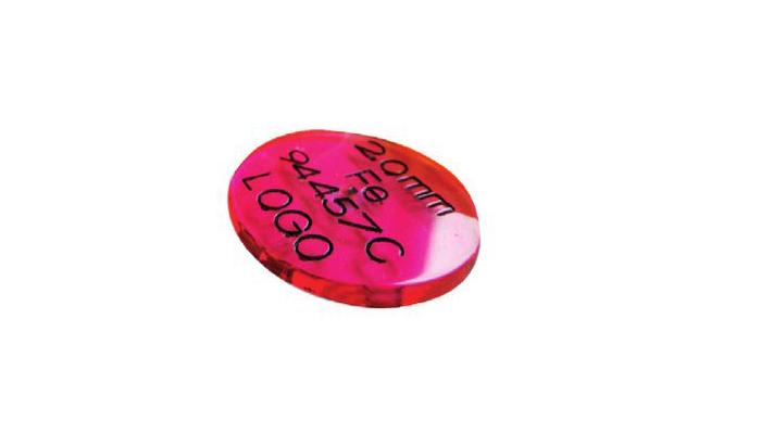 10mm ακρυλικός δίσκος για τεστ μαγνήτη