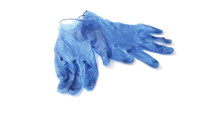 γάντια από βινύλιο
