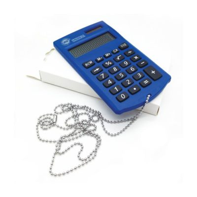 Detectable Pocket DetectaCalc Calculator with lanyard