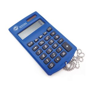 Pocket DetectaCalc Calculator with lanyard