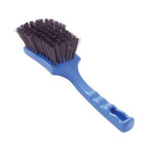 Detectable short handle wide churn brush